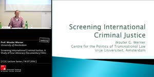 Vorschaubild - Screening International Criminal Justice