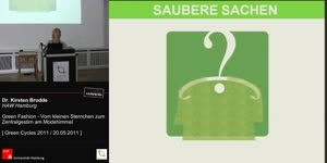 Miniaturansicht - Green Fashion - Vom kleinen Sternchen zum Zentralgestirn am Modehimmel - Green Cycles - 2. Symposium social responsiblity im textilen Kreislauf