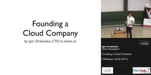 Miniaturansicht - Founding a Cloud Company