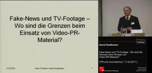 Miniaturansicht - (5) Tagung - PR und Journalismus - Fake News und TV-Footage - Wo sind die Grenzen beim Einsatz von Video-PR-Material