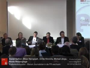 Miniaturansicht - (7) Tagung - PR und Journalismus - PODIUMSDISKUSSION: Geld, Macht, Frust? Warum Journalisten in die PR wechseln