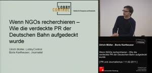 Miniaturansicht - (2) Tagung - PR und Journalismus - Wenn NGO's recherchieren - Wie die verdeckte PR der deutschen Bahn aufgedeckt wurde
