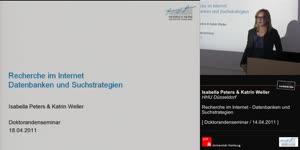Miniaturansicht - Recherche im Internet: Datenbanken und Suchstrategien