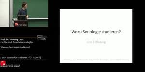 Miniaturansicht - Warum Soziologie studieren?