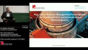 Miniaturansicht - M.A. Human Resource Management / Personalpolitik: Interdisziplinär und praxisrelevant