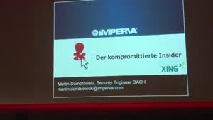 Miniaturansicht - Der Kompromittierte Insider (Webmontag Hamburg)