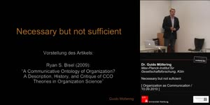 Vorschaubild - Dr. Guido Möllering - Necessary but not sufficient