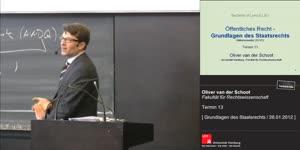 Miniaturansicht - Grundlagen des Staatsrechts 13. Termin (26.01.2012)
