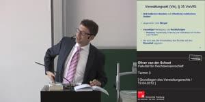 Miniaturansicht - Grundlagen des Verwaltungsrechts 3. Termin (19.04.2012)