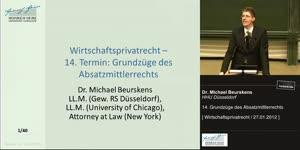 Vorschaubild - 14. Grundzüge des Absatzmittlerrechts