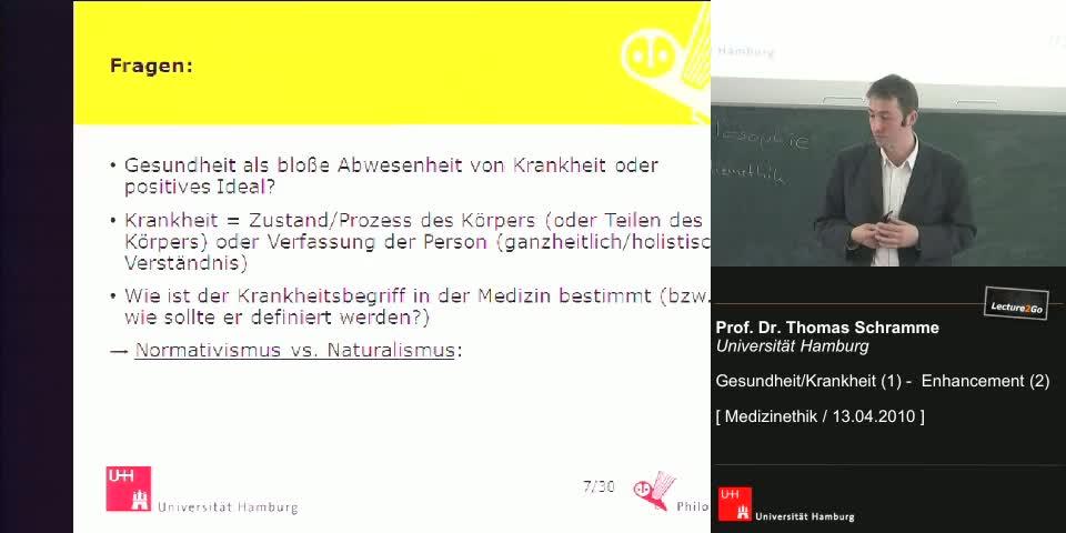 Thumbnail - Die Diskussion in der Medizinphilosophie: Normativismus und Naturalismus