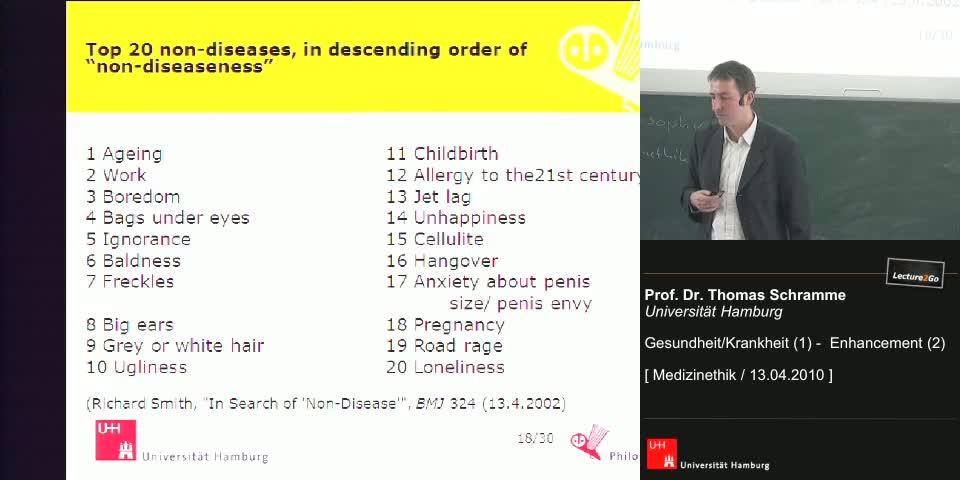 Thumbnail - Beispiele strittiger Krankheiten