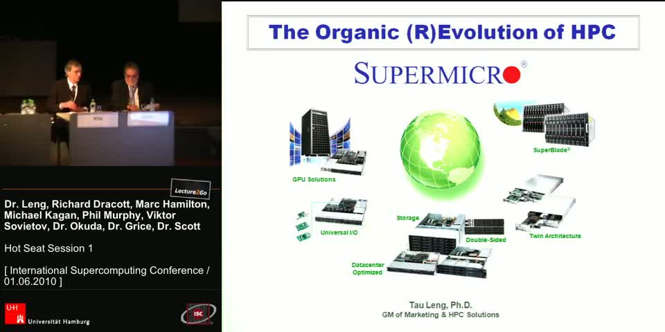 Vorschaubild - The Organic (R)Evolution of HPC Dr. TAU LENG, GM, Marketing & HPC Solutions, Supermicro, USA