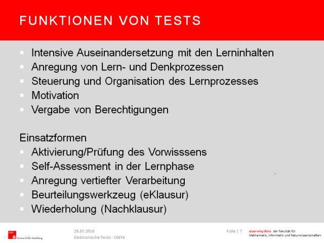 Thumbnail - Funktionen von Tests