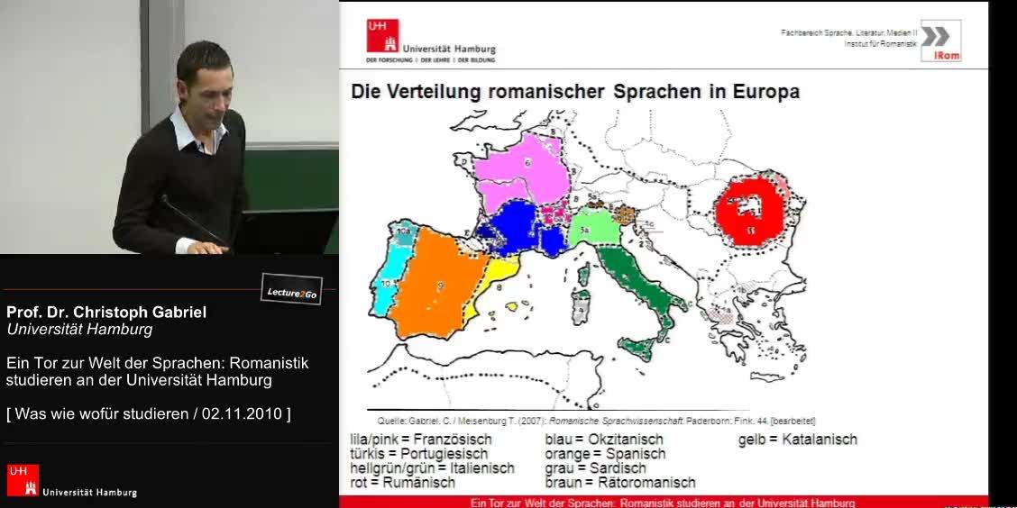 Vorschaubild - Romanistik studieren in HH, Studienstruktur