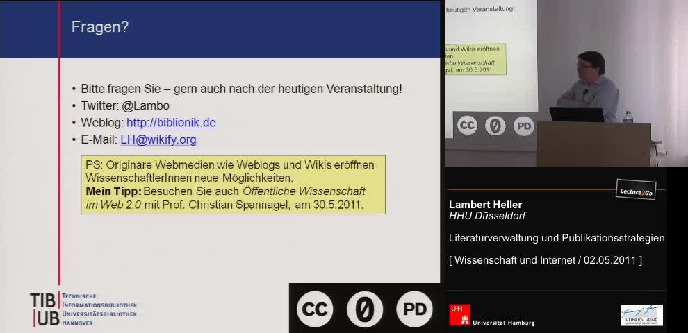 Thumbnail - Online Literaturverwaltungsdienste