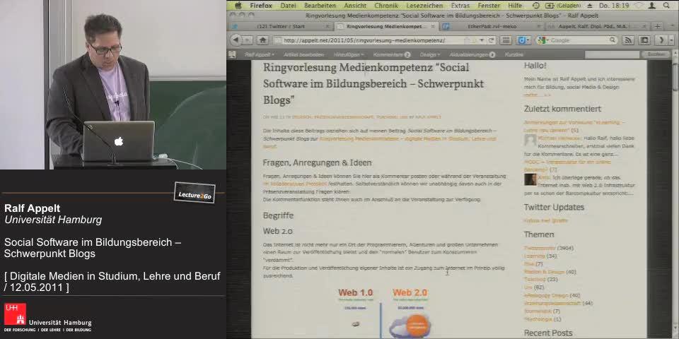 Thumbnail - Begriffe: Web 2.0, Social Software, Blogs