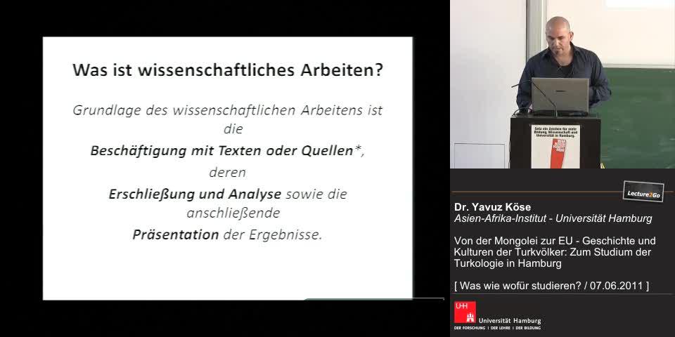 Thumbnail - WIssenschaftliches Arbeiten, Turkologie in Hamburg