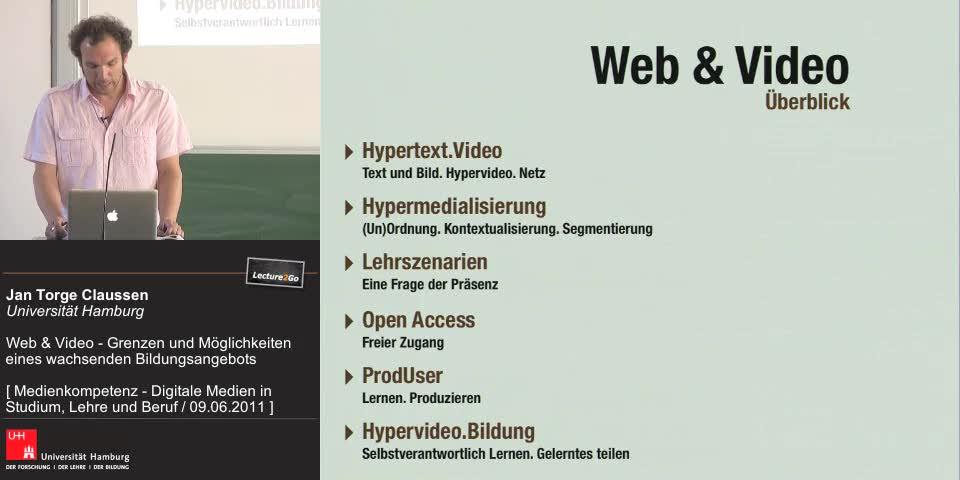 Thumbnail - Hypertext.Video - Text und Bild. Hypervideo. Netz