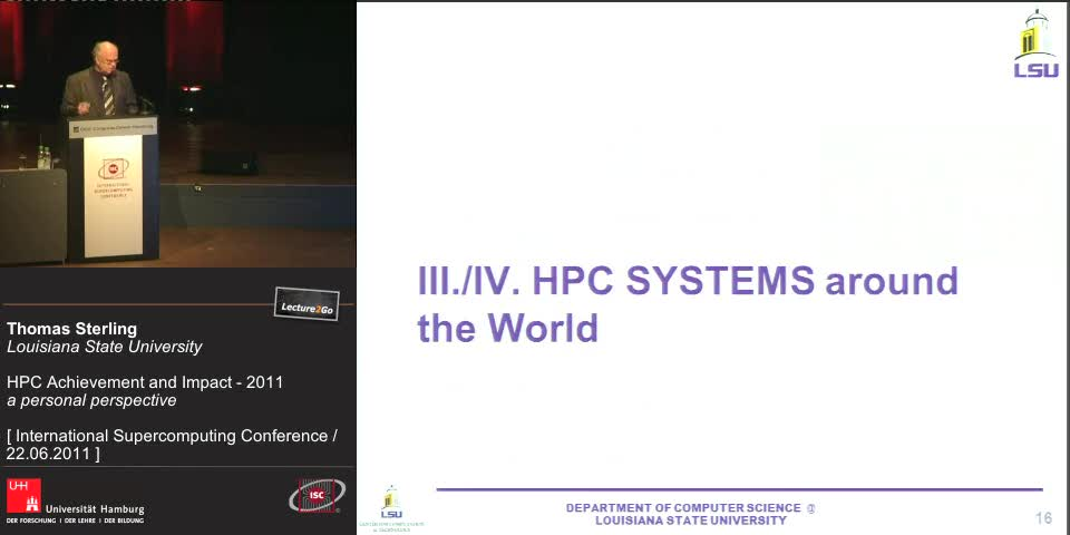 Thumbnail - III./IV. HPC Systems around the World