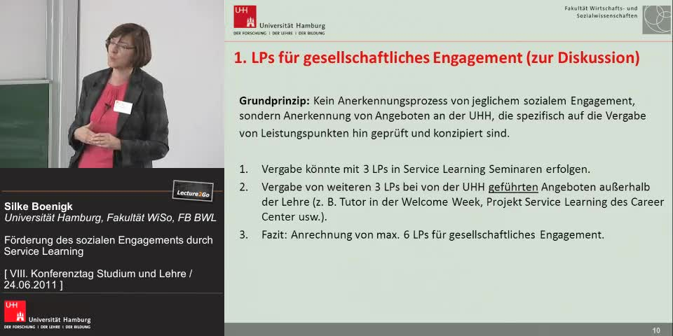Thumbnail - Ausweitung Service Learning auf andere Bereiche