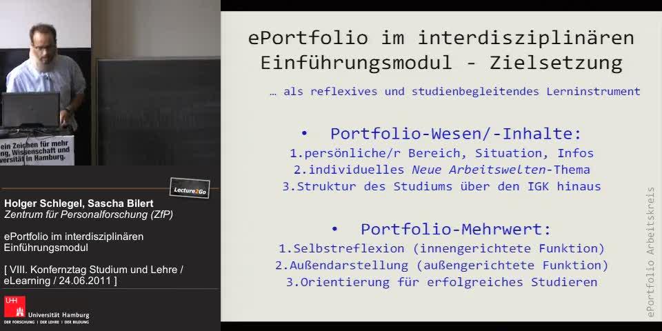 Thumbnail - ePortfolio im interdisziplinären Einführungsmodul - Zielsetzung