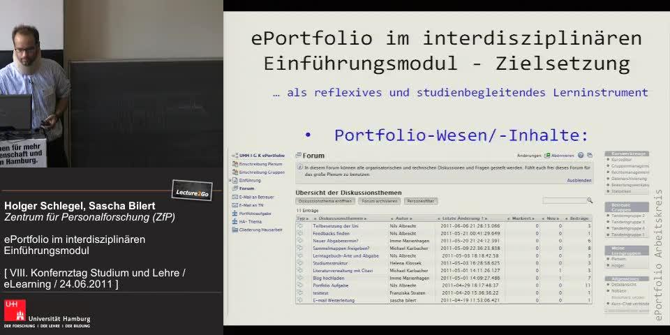 Thumbnail - ePortfolio im interdisziplinären Einführungsmodul - Umsetzung