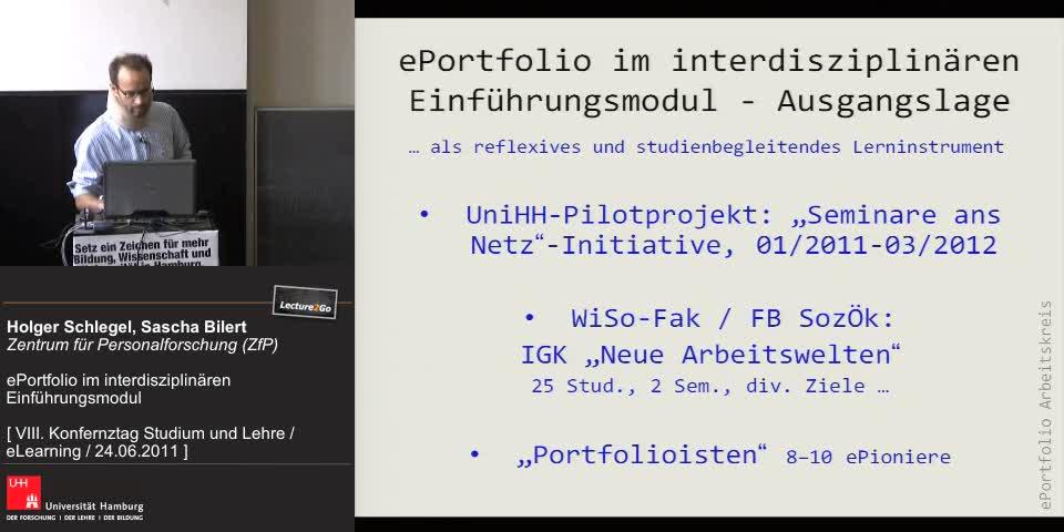 Thumbnail - ePortfolio im interdisziplinären Einführungsmodul - Ausgangslage