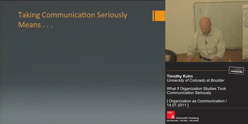Vorschaubild - Taking Comunication Seriously Means . . .
