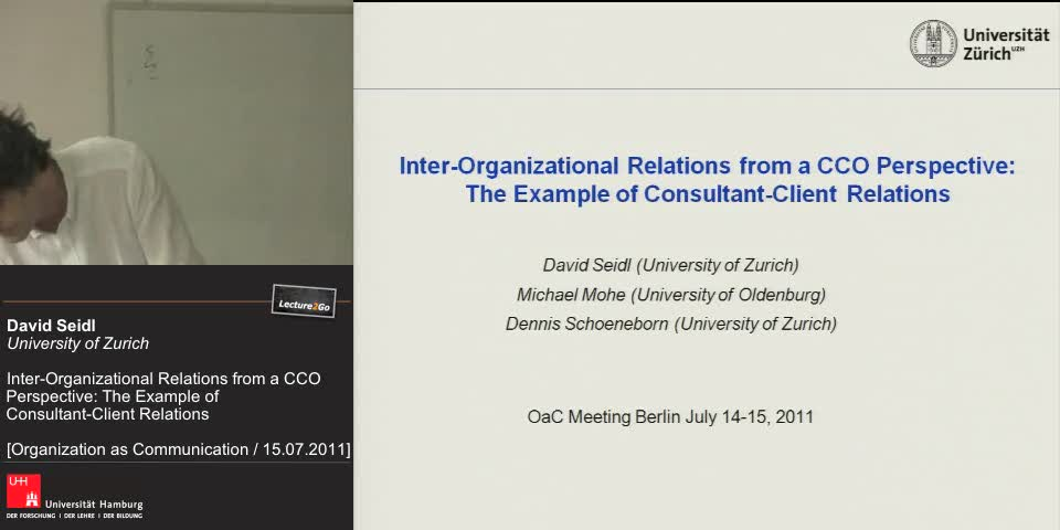 Vorschaubild - CCO perspective tends to neglect inter organizational relations
