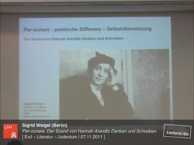 Thumbnail - 2. Vortrag von Sigrid Weigel