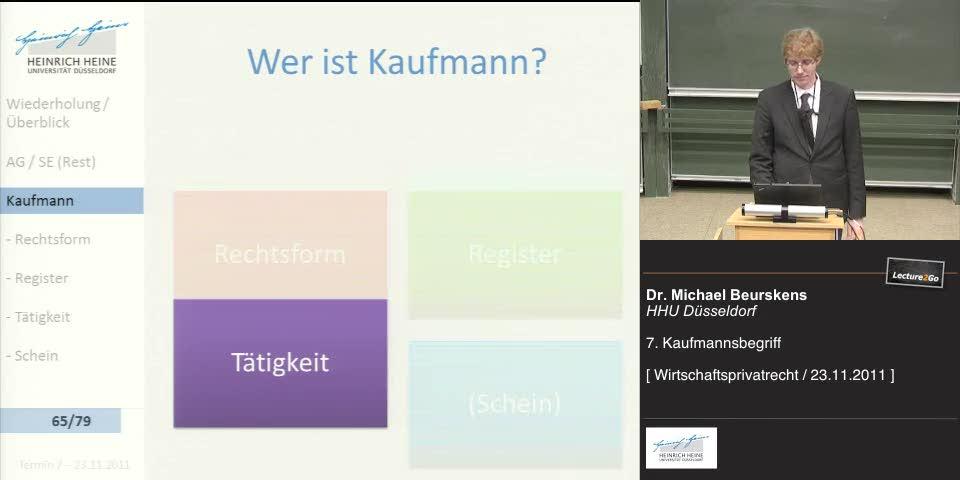 Thumbnail - Kaufmann - Tätigkeit