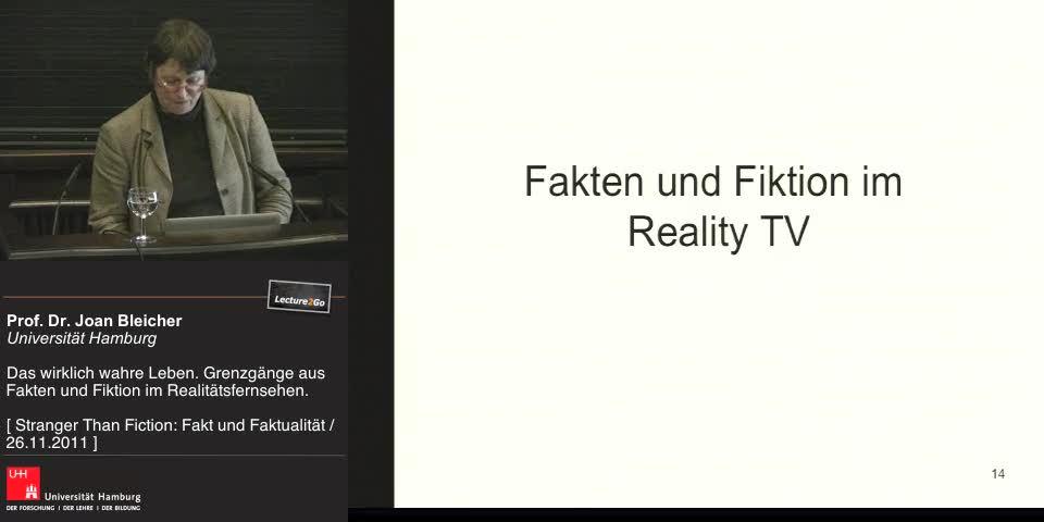 Thumbnail - Fakten und Fiktionen im Reality TV
