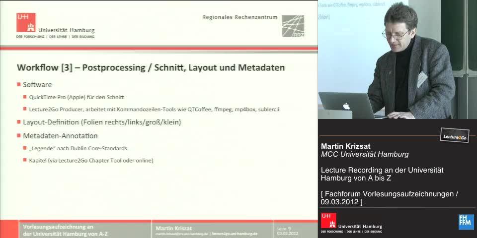 Thumbnail - Workflow - Postprocessing / Schnitt, Layout und Metadaten