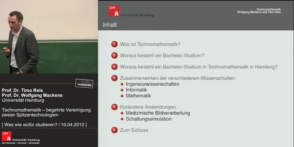 Vorschaubild - Inhalt des Vortrags im Überblick