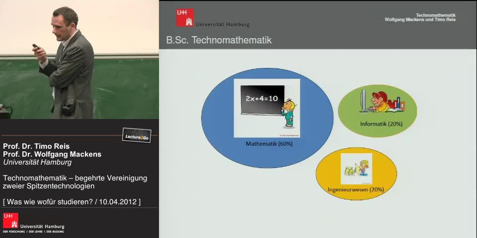Vorschaubild - Bachelor Studium der Technomathematik