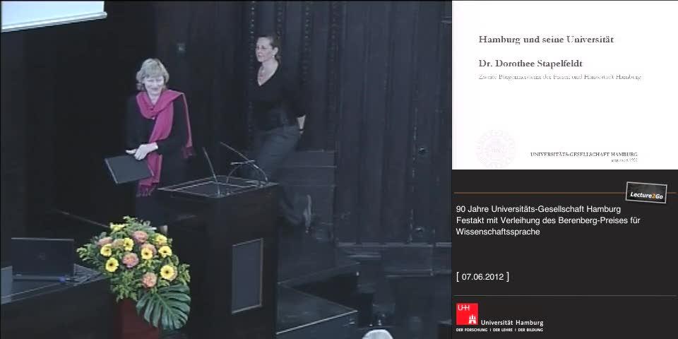Vorschaubild - Festvortrag: Dr. D. Stapelfeldt