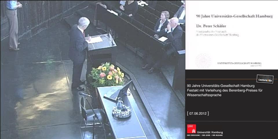 Vorschaubild - Begrüßung: Dr. P. Schäfer