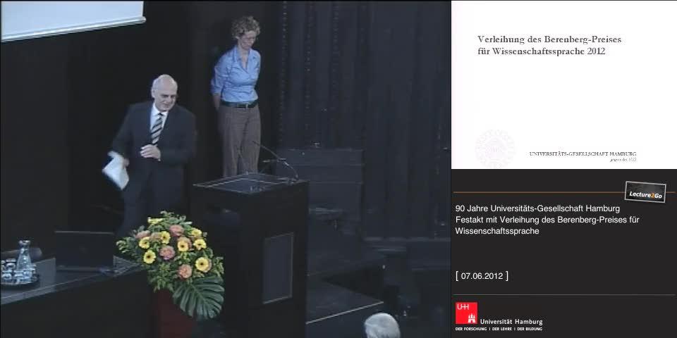Thumbnail - Laudatio: Professor Dr. J. Schönert