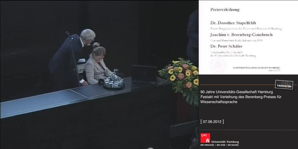 Vorschaubild - Grußwort: J. v. Berenberg-Consbruch