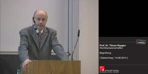 Thumbnail - Prof. Dr. Tilman Repgen: Begrüßung