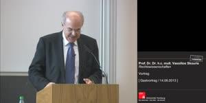 Miniaturansicht - Prof. Dr. Dr. h.c. mult. Vassilios Skouris: Vortrag
