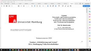 Thumbnail - Globalisierung und Armut 14.7.
