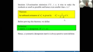 Miniaturansicht - Estimation and Inference 10.12.