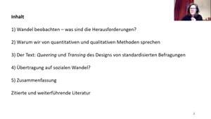 Miniaturansicht - 8. Sitzung: Beobachtung von sozialem Wandel - was ist mit quantitativer Sozialforschung?