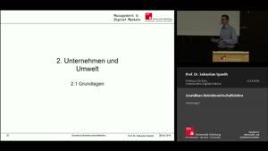 Miniaturansicht - Vorlesung 2 - Unternehmen und Umwelt (1)