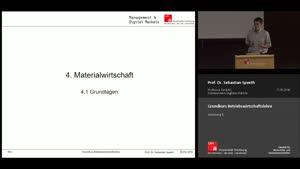 Miniaturansicht - Vorlesung 6 - Materialwirtschaft (1)