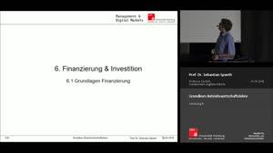Miniaturansicht - Vorlesung 8 - Finanzierung und Investition (1)