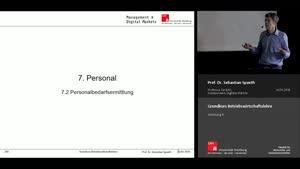 Miniaturansicht - Vorlesung 9 - Finanzierung und Investition (2)/Personal