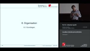 Miniaturansicht - Vorlesung 10 - Organisation